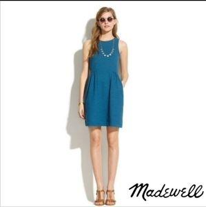 MADEWELL KEYNOTE DRESS TEAL BLUE SLEEVELESS A LINE